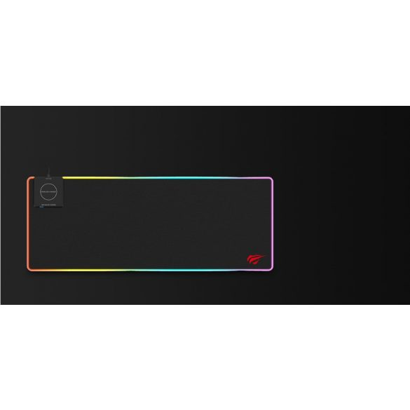 HAVIT MP902 RGB MOUSE PAD WITH FAST 10W WIRELESS PHONE CHARGER